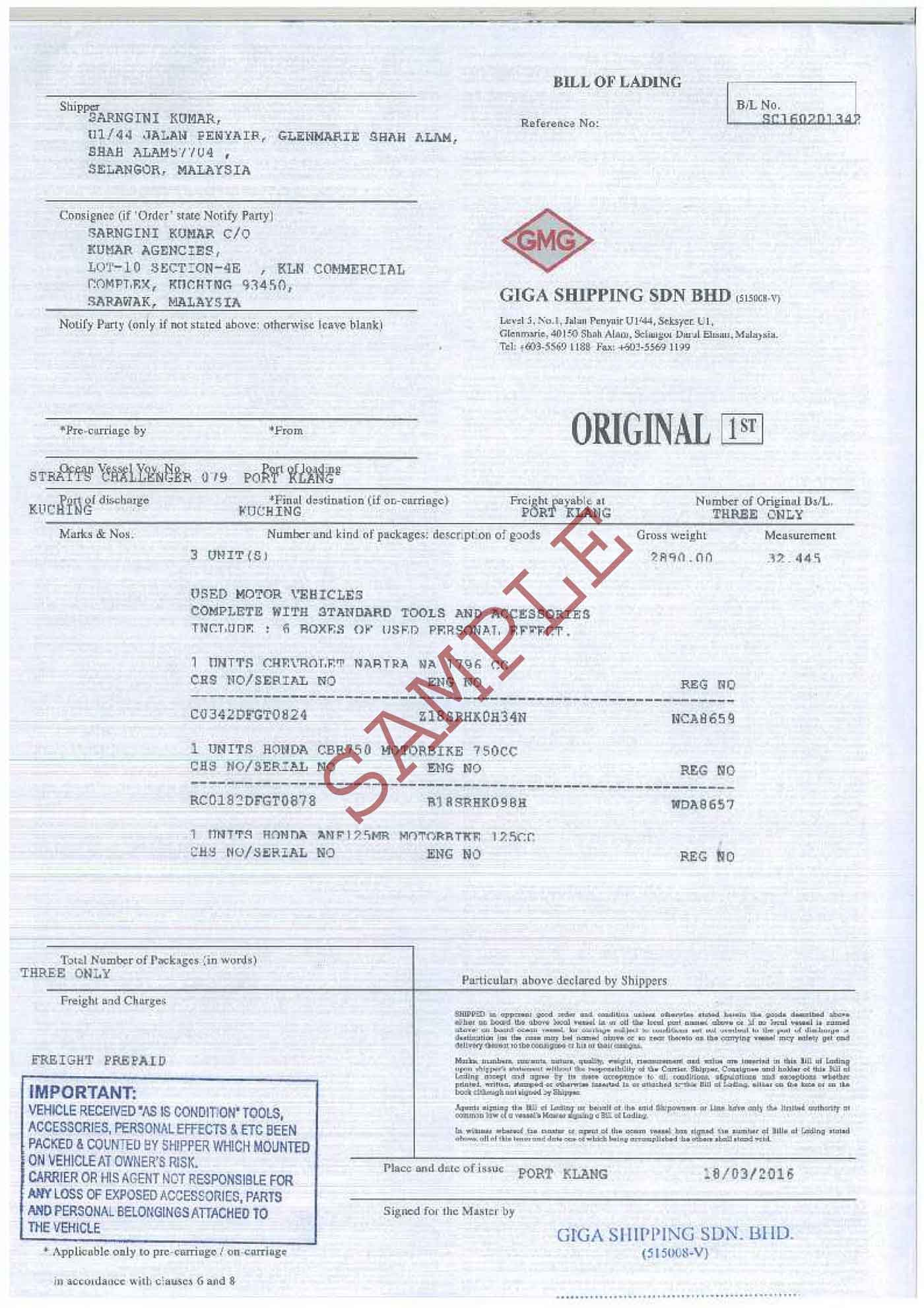 bill of lading short form template excel bill of lading template
